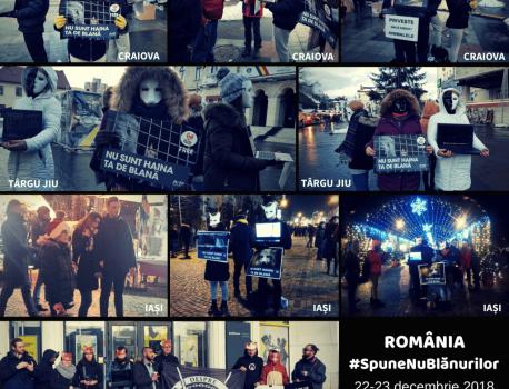 Acțiune de informare: România #SpuneNuBlănurilor
