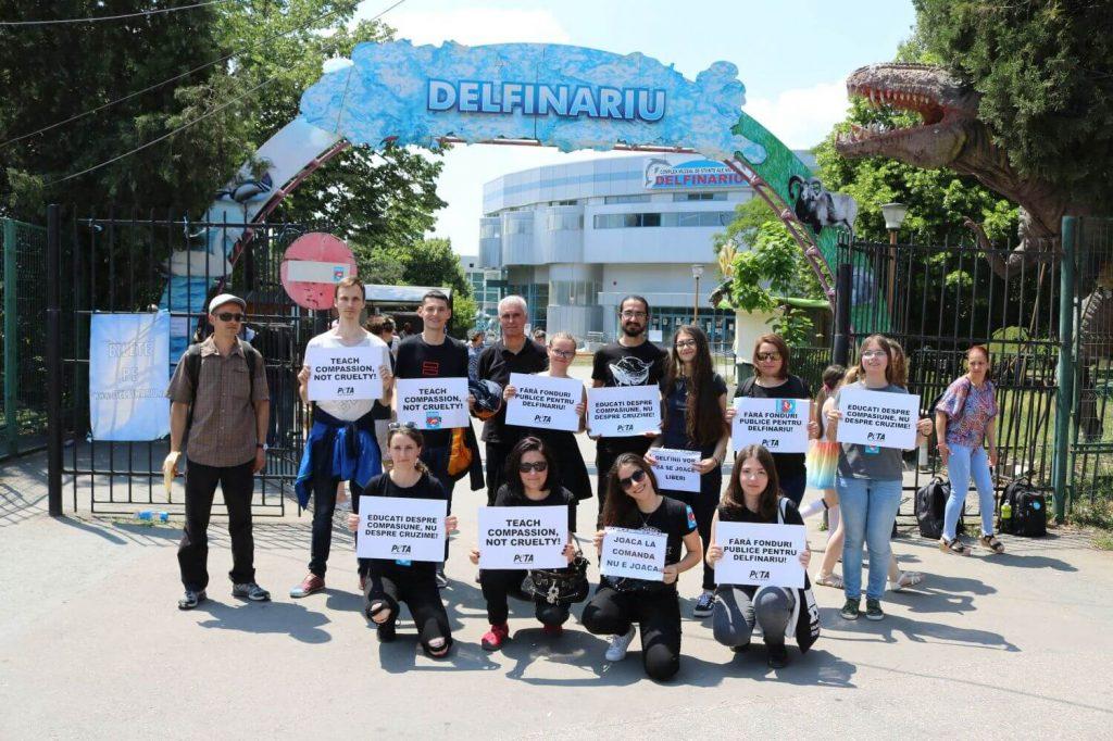 Protest delfinariu Constanța
