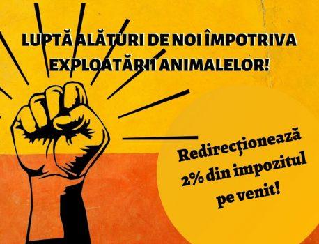 Luptă alături de noi – oferă 2% pentru animale!